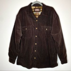 Levis Brown Corduroy Button Front Barn Jacket Coat